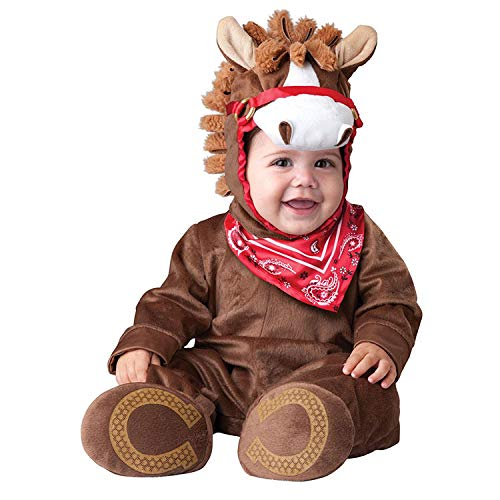 Halloween Baby Brown Horse clothes 3-24 M Newborn Toddler baby cosplay costume party romper outfit (Brown Horse, 24-30M)