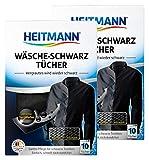Heitmann Wäsche Schwarz Tücher (10 Tücher, Schwarz), 2er Pack:...