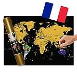 Global Walkabout française–Carte à gratter avec des Drapeaux en...