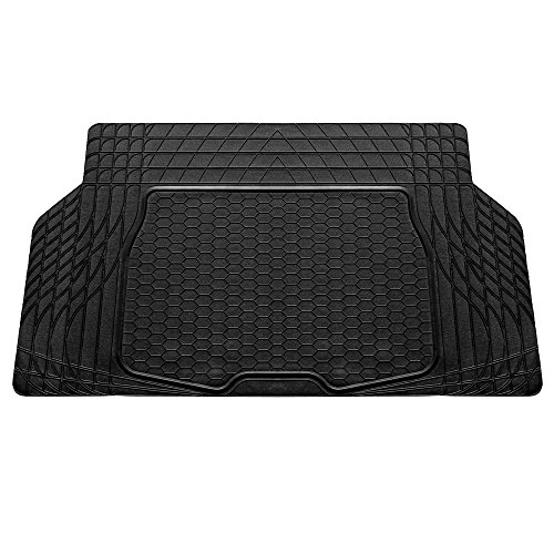 "FH Group F16403BLACK Cargo Mat Fits Most Sedans, Coupes and Small SUVs (Semi Custom Trimmable Vinyl Black) 55"" x 32"