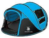 Ghlee Secondes Pop Up Ouverture rapide Camping Randonnée Grande tente instantanée pour les sports...