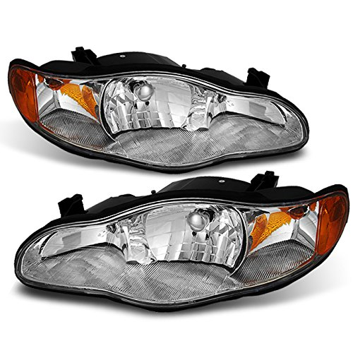 For Chevy Monte Carlo [OE Style] Chrome Headlights Replacement Driver/Passenger Head Lamps Pair New