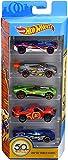 Hot Wheels Coffret 5 véhicules 50 ans, jouet pour enfant de petites voitures miniatures, modèle aléatoire, FWF98