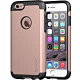 iPhone 6s Case, LUVVITT [Ultra Armor] Shock Absorbing Case Best Heavy Duty Dual Layer Tough Cover for Apple iPhone 6 / iPhone 6s - Black/Rose Gold