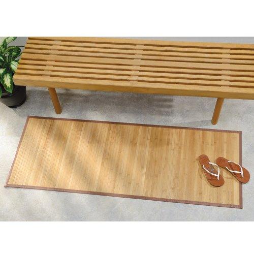 iDesign Tappeto antiscivolo, Tappetino bagno di bambù idrorepellente, Ampio tappeto bagno adatto anche ad altri...