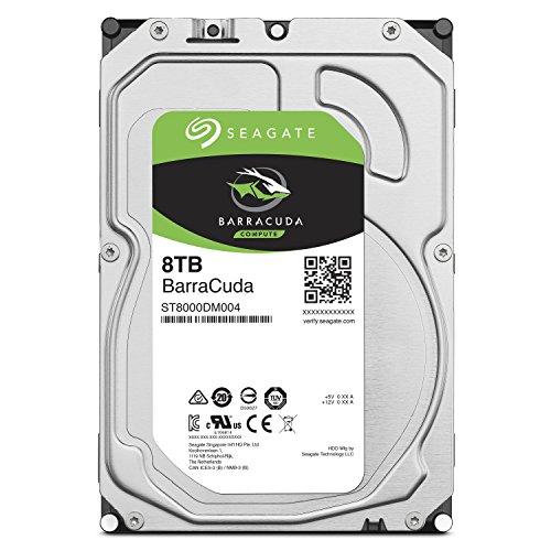 Seagate BarraCuda 3.5インチ 8TB 内蔵ハードディスク HDD 2年保証 6Gb/s 256MB 5400rpm 正規代理店品 ST8000DM004
