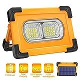 Projecteur LED Rechargeable, T-SUN 80W lumière de Travail avec Pannea Solaire, Sécurité Imperméable...