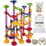 Memtes Marble Run Toy Race Coaster 105 Piece Set, Educational Construction Maze Building Blocks...