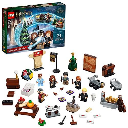 LEGO 76390 Harry Potter Calendario de Adviento de 2021, Juguete de Navidad y Regalo para Niños a Partir de 7 Años con 6 Mini Figuras
