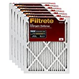 Filtrete AD01-6PK-1E MPR 1000 16x25x1 AC Furnace, Micro Allergen Defense, 6-Pack Air Filter, 16 x 25 x 1, White, 6