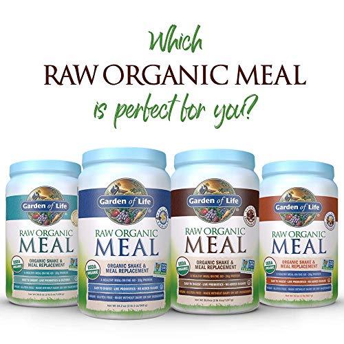 Garden of Life Meal Replacement - Organic Raw Plant Based Protein Powder, Chocolate, Vegan, Gluten-Free, 35.9oz (2lb 4oz/1,017g) Powder 11