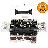 Outil Rotatif Multi-Usage, Meterk 349 Pieces Kit d'Accessoires Pour Outils...