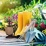 Relaxdays antik, Gusseisen, Fadenhalter mit Schere & Pflanzschnur, Garten Deko, Dunkelbraun Schnurhalter, - 3