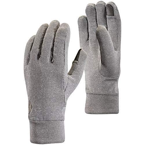 Black Diamond Lightweight Wooltech Handschuhe für sportliche Aktivitäten / Leichter Innenhandschuh aus Fleece & Wolle mit digitalen Fingern / Unisex, Slate, Größe: L