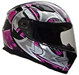 Vega Helmets 6115-364 Ultra Full Face Helmet for Men & Women (Pink Shuriken Graphic, Large) 1 pack