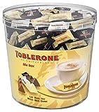 Toblerone - Assortiment de 3 Variétés de Mini Toblerone : Chocolat au Lait, Chocolat Noir, Chocolat Blanc - Tubo de 113 mini barres (904 g)