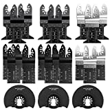 Oscillating Saw Blades 25 PC Metal Wood Multitool Blades Quick Release...