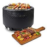 Leogreen- Barbecue au Charbon de Bois avec ventilation électrique,...