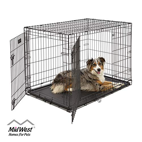 Large Dog Crate 1542DDU| MidWest ICrate Double Door Folding...