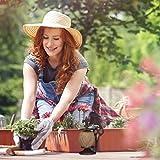 Relaxdays antik, Gusseisen, Fadenhalter mit Schere & Pflanzschnur, Garten Deko, Dunkelbraun Schnurhalter, - 4