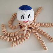 Pulpo de crochet terapéutico antialérgico