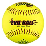 1 Dozen ASA Evil Ball 12' Softballs 52 COR 300 Compression 12 Balls (MP-Evil-RP-ASA-Y)