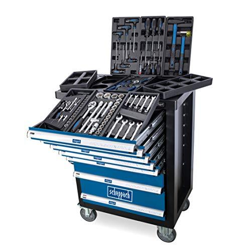 Scheppach Chariot d'atelier TW1100 - 7 tiroirs, avec kit d'outils 70 pièces