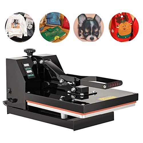 SUNCOO 15X15 Heat Press, T Shirt Printing Machine, Digital Heat Transfer Industrial Quality Power Press Machine, 1200W Sublimation Clamshell Heat Press for T Shirts, Mouse Pads, Socks