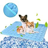 BESAZW Cooling Mat Pad for Dogs Cats Ice Silk Mat Cooling Blanket Cushion for Kennel/Sofa/Bed/Floor/Car Seats Cooling (L:28' x 22')