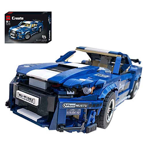 Foxcm Technic Sports Car for Ford Mustang Shelby GT500, Building Set, 1600 Blocks - Compatible with Lego Technic