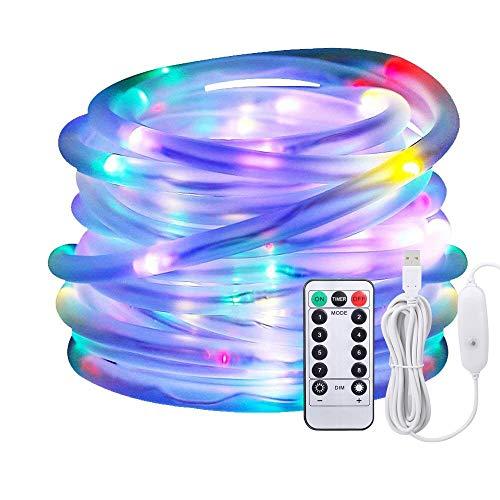 Luci a Led,Afufu Luci a 10 m di cavo USB alimentate, 100 luci del tubo del LED all'aperto con 8 modi, impermeabili IP65, decorazioni di Natale