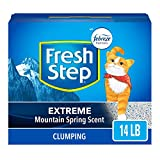 Fresh Step Extreme Scented Litter with the Power of Febreze, Clumping Cat Litter Mountain Spring, 14...