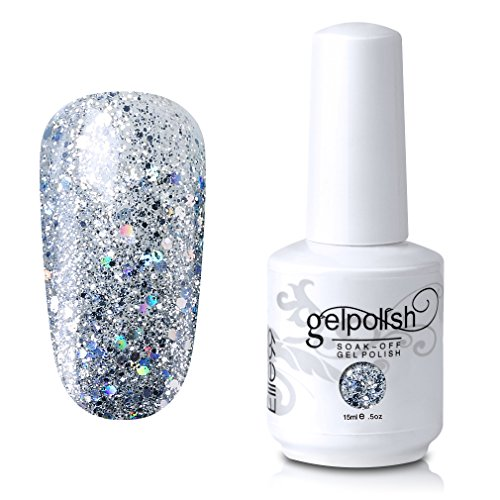 Elite99 Gel Nail Polish Soak Off UV LED Gel Lacquer Nail Art Manicure Glitter Clear 329 15ml
