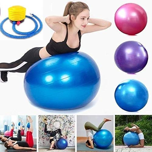 MWMALLINDIA MW MALL India 85CM Anti-Burst Yoga Balls for Exercise with Foot Pump, Exercise Ball, Ball-Available in (85 cm)
