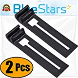 Ultra Durable W10195839 Dishwasher Rack Adjuster Replacement part by Blue Stars - Exact Fit for Whirlpool KitchenAid Kenmore Dishwashers - Replaces WPW10195839 PS11750092 AP6016799 - PACK OF 2