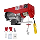 BEAMNOVA 2200lb (1 Ton) Electric Hoist Lift Overhead Winch with Remote Control Single/Double Slings