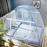 AMMER Pop-Up Mosquito Net Tent for Beds Anti Mosquito Bites Folding Design with Net Bottom for Babys Adults Trip (79 x71x59 inch)