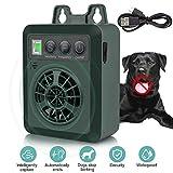 ULTPEAK Anti Barking Device, Ultrasonic Stop Barking Device with 4 Sensitivity Adjustable Levels for 50 Feet Effective No Dog Bark, USB Rechargeable Dog Bark Control, Safe & Humane (Green)
