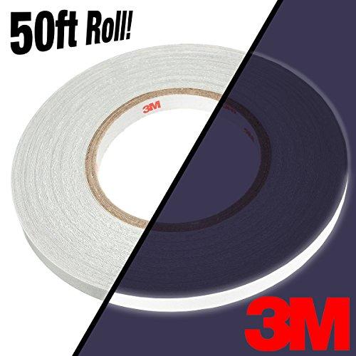 3M Silver White Reflective Automotive Adhesive Vinyl 50ft Bulk Roll (3/4' x 50ft)