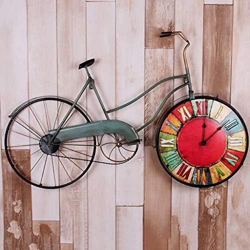 Orologio da parete LOFT Vintage Bicycle Decorative Frame Clocks Montaggio a parete Barra industriale...
