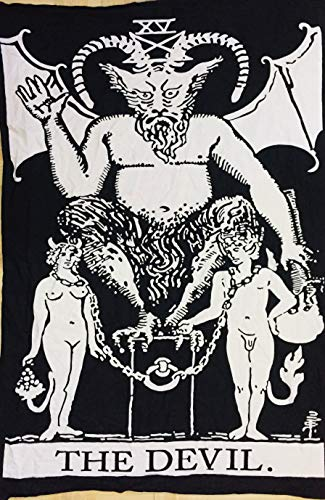 Indian Consigners Devil Tarot Cards Tapestry The Devil Small...
