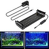 BELLALICHT Lumières Rampe LED pour Aquarium 30-45 cm réglable luminosité...