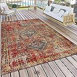 Paco Home Tapis Extérieur Terrasse Rouge Balcon Oriental Design Résistant...