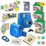 Fujifilm Instax Mini 9 Instant Camera Cobalt Blue w/Fujifilm Instax Mini 9 Instant Films (60 Pack) +...