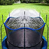 Bobor Trampoline Water Sprinkler for Kids Outdoor Trampoline Sprinkler Waterpark Fun Summer Water Toys Trampoline Accessories (Blue, 39foot)