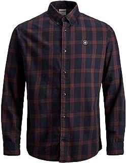 Jack Jones - Camisa de cuadros para hombre, color marrón