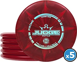 Dynamic Discs Judge Disc Golf Putter Five Pack | Frisbee Golf Putter Pack | 170 Grams and..