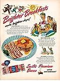 1947 Swifts Premium Bacon -Original 13.5 * 10.5 MagazineAd1947 Swifts Premium Bacon -Original 13.5 * 10.5 MagazineAd-How To Bake In AnOven