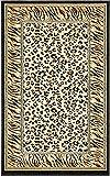 Unique Loom Wildlife Collection Cheetah Border Animal Print Light Brown Area Rug (3' 3 x 5' 3)