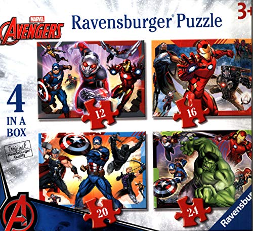 Ravensburger Italy- Marvel Avengers Puzzle 4 in 1, 06942